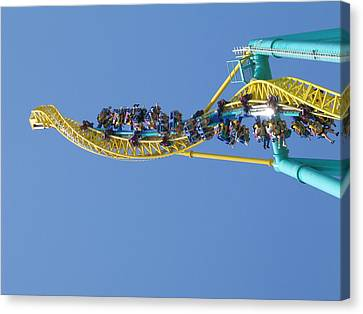Cedar Point - Wicked Twister - 12122 Canvas Print by DC Photographer