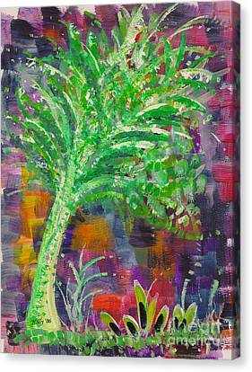 Canvas Print featuring the painting Celery Tree by Holly Carmichael