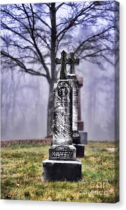 Cemetery Canvas Print by HD Connelly