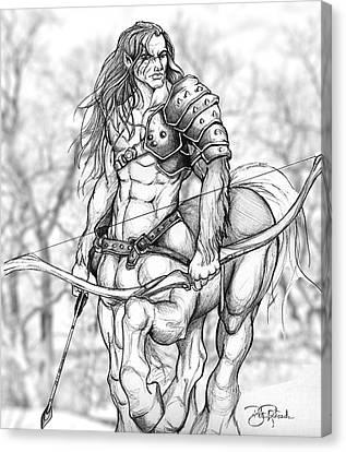 Centaur Canvas Print by Bill Richards