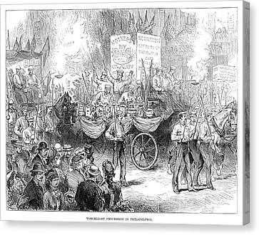Centennial Parade, 1876 Canvas Print