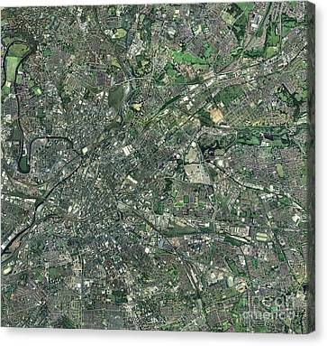 Central Manchester, Aerial View Canvas Print by Getmapping plc
