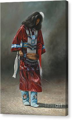 Chavez-mendez Canvas Print - Ceremonial Red by Ricardo Chavez-Mendez