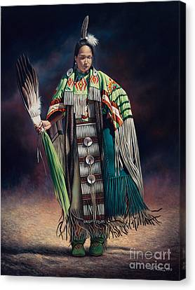 Dancer Canvas Print - Ceremonial Rhythm by Ricardo Chavez-Mendez
