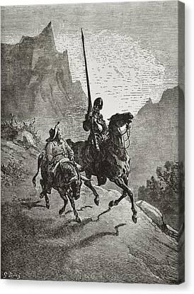 1616 Canvas Print - Cervantes Saavedra, Miguel De 1547-1616 by Everett