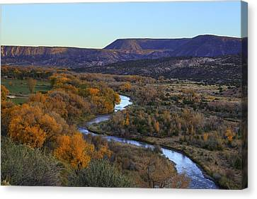 Chama River At Sunset Canvas Print