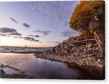 Champlain Twilight Canvas Print