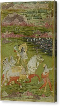 Chand Bibi Hawking Canvas Print by Celestial Images