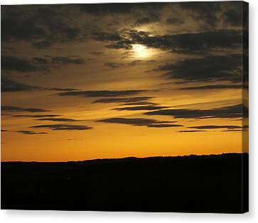 Canvas Print featuring the photograph Changing Sky by Gene Cyr
