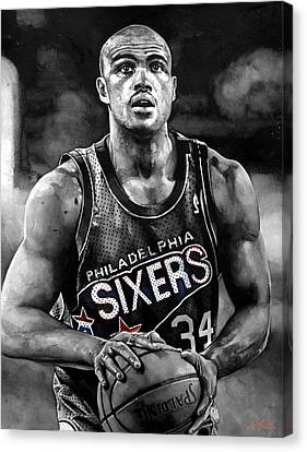 Charles Barkley Canvas Print by Michael  Pattison