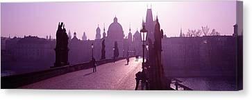 Charles Bridge Moldau River Prague Canvas Print by Panoramic Images