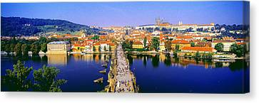 Charles Bridge, Prague, Czech Republic Canvas Print by Panoramic Images