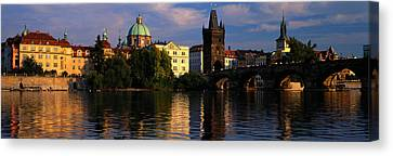 City Of Bridges Canvas Print - Charles Bridge Vltava River Prague by Panoramic Images