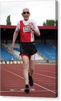 Charles Eugster 95 Senior British Athlete Canvas Print