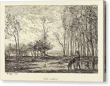 Charles-françois Daubigny French, 1817 - 1878 Canvas Print by Quint Lox