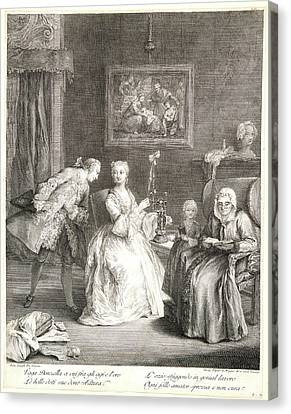 Charles Joseph Flipart French, 1721-1797 After Pietro Canvas Print by Litz Collection