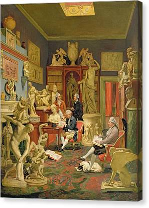 Charles Townley And His Friends Canvas Print by Johann Zoffany