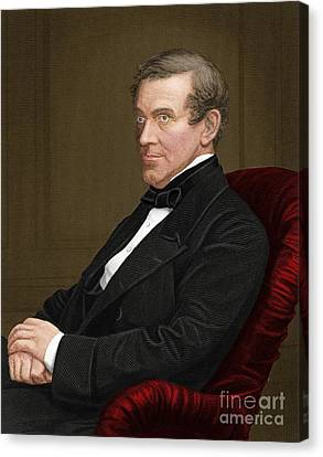 Charles Wheatstone, British Inventor Canvas Print by Maria Platt-Evans