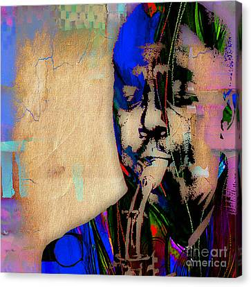 Charlie Parker Collection Canvas Print by Marvin Blaine