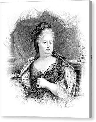 Charlotte-elisabeth Duchess Of Orleans Canvas Print by Mary Evans Picture Library