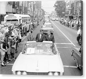 Charlotte Motorcade President John F. Kennedy Canvas Print by Retro Images Archive
