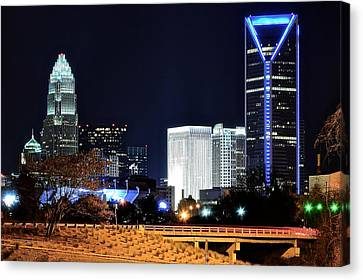 Charlotte Towers Canvas Print by Frozen in Time Fine Art Photography