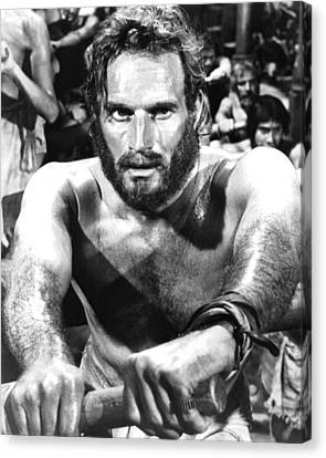 Charlton Heston In Ben-hur  Canvas Print by Silver Screen