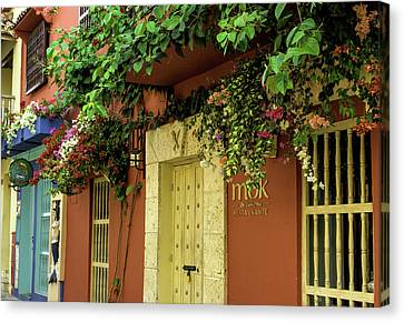 Cartagena Canvas Print - Charming Spanish Colonial Architecture by Jerry Ginsberg