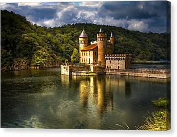 Chateau De La Roche Canvas Print by Debra and Dave Vanderlaan