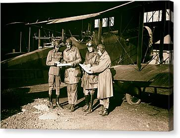 Checking Flight Plans 1920 Canvas Print by Mountain Dreams