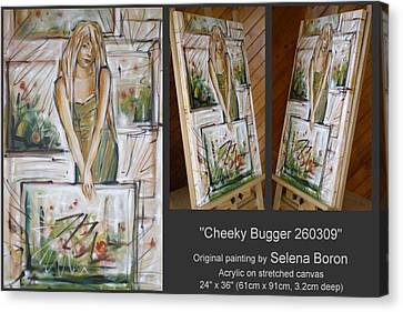 Canvas Print featuring the painting Cheeky Bugger 260309 by Selena Boron