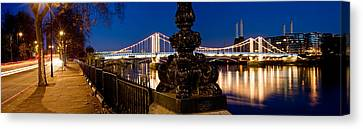 Chelsea Bridge With Battersea Power Canvas Print by Panoramic Images