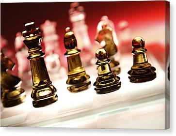 Chess Canvas Print by Les Cunliffe