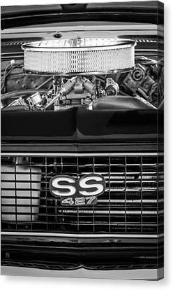 Chevrolet Camaro Ss 427 Grille Emblem - Engine Canvas Print