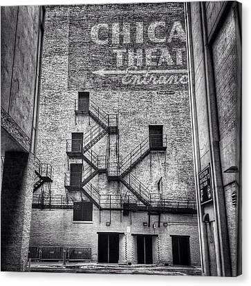 Chicago Theatre Alley Entrance Photo Canvas Print by Paul Velgos