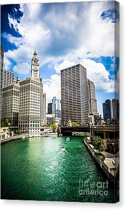 Chicago River Canvas Print - Chicago Downtown At Michigan Avenue Bridge Picture by Paul Velgos