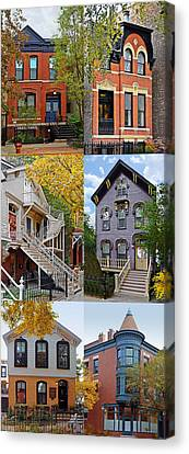 Chicago Historic Old Town Triangle Canvas Print by Christine Till