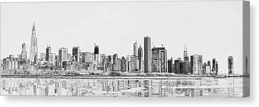 Chicago Panorama Canvas Print