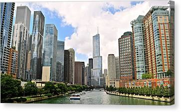 Chicago Panorama Canvas Print by Frozen in Time Fine Art Photography