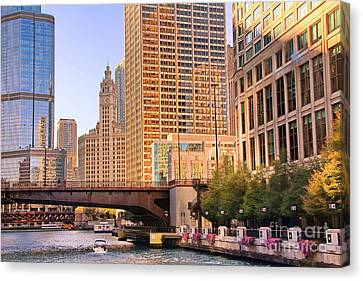 Chicago River Reflections Canvas Print by Jack Schultz