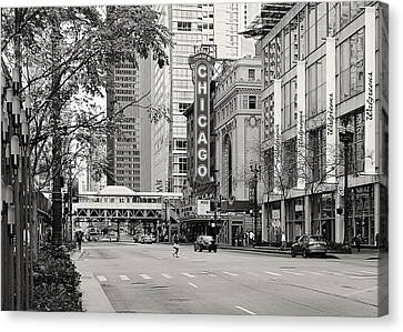Chicago Theatre - French Baroque Out Of A Movie Canvas Print by Christine Till