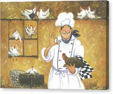 Chicken Chef Canvas Print