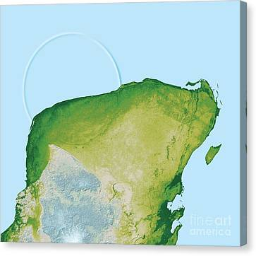Chicxulub Impact Crater, Yucatan, Mexico Canvas Print