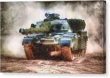 Chieftain Tank Canvas Print by Roy Pedersen