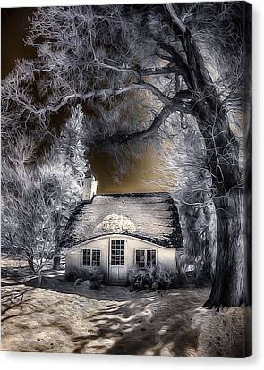 Canvas Print featuring the photograph Children's Cottage by Steve Zimic