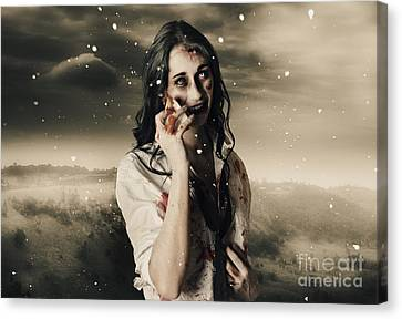 Chill Of Death In Mourning Canvas Print by Jorgo Photography - Wall Art Gallery