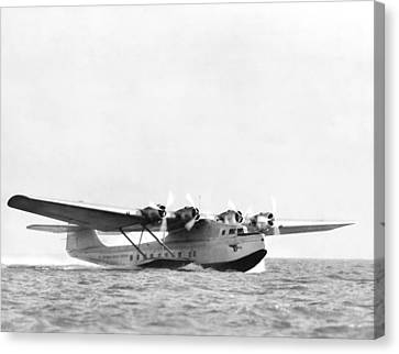 China Clipper Seaplane Canvas Print by Underwood Archives