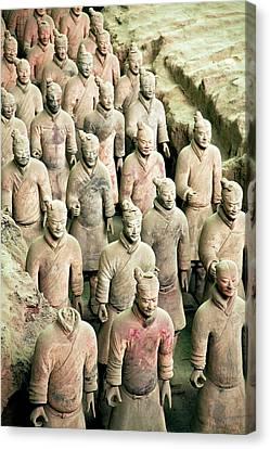 China, Xi'an, Qin Shi Huang Di Canvas Print by Miva Stock