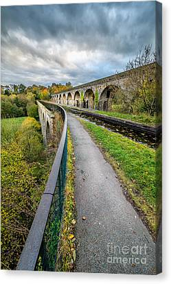 Chirk Aqueduct Canvas Print by Adrian Evans