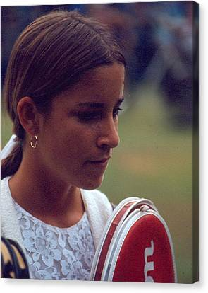 French Open Canvas Print - Chris Evert by Retro Images Archive